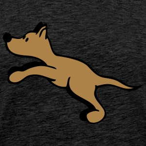 Dog jumping Hoodies & Sweatshirts - Men's Premium T-Shirt