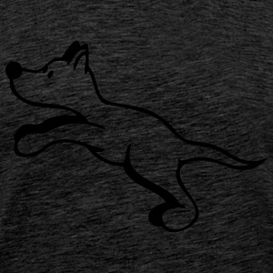 Dog jumps Hoodies & Sweatshirts - Men's Premium T-Shirt
