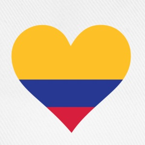 Heart Colombia (dd) T-Shirts - Baseball Cap