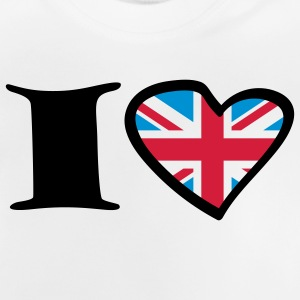 i_love_uk_3c Tee shirts - T-shirt Bébé