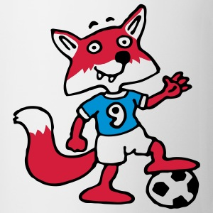 soccer_fox_e_white_3c T-shirts - Mugg