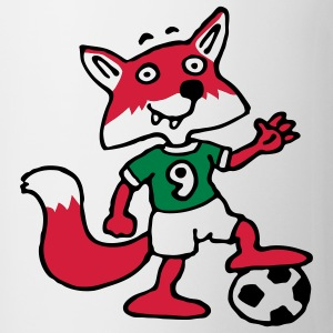 soccer_fox_h_white_3c T-shirts - Mugg