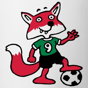 soccer_fox_i_white_3c T-shirts - Mugg