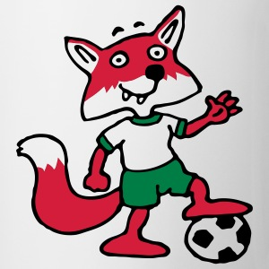 soccer_fox_p_white_3c T-shirts - Mugg