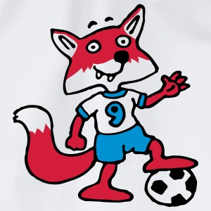 soccer_fox_d_white_3c  Aprons - Drawstring Bag