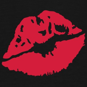 A red lipstick imprint Bags  - Men's Premium T-Shirt