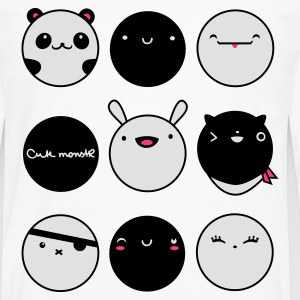 Kawaii Faces T-Shirts - Männer Premium Langarmshirt
