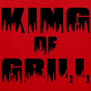 King of Grill - Grill - BBQ T-Shirts - Men's Premium Tank Top