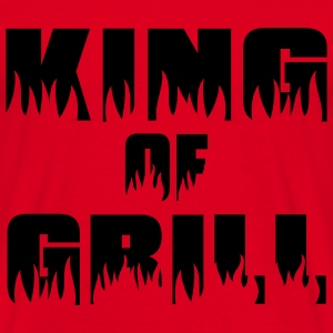King of Grill - Grill - BBQ  Aprons - Men's T-Shirt