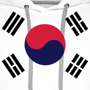 Flag of South Korea T-Shirts - Men's Premium Hoodie