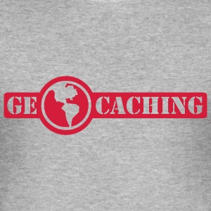 Geocaching - 1color - Herre Slim Fit T-Shirt