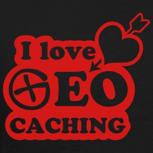 i love geocaching - 1color - back - Camiseta premium hombre