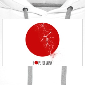 Hope for Japan T-shirts - Mannen Premium hoodie
