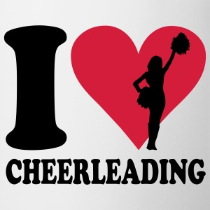 I love Cheerleading Børne T-shirts - Kop/krus