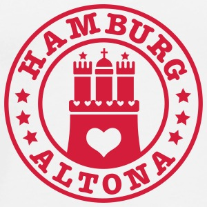 HAMBURG Altona - Hamburger Wappen Fan-Design HH Anstecker / Button Souvenir - Männer Premium T-Shirt