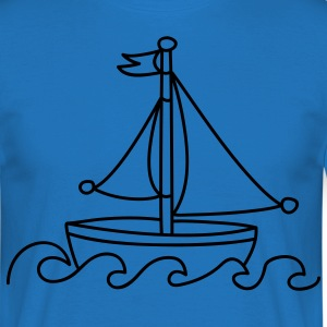 Blue Sailboat  Aprons - Men's T-Shirt