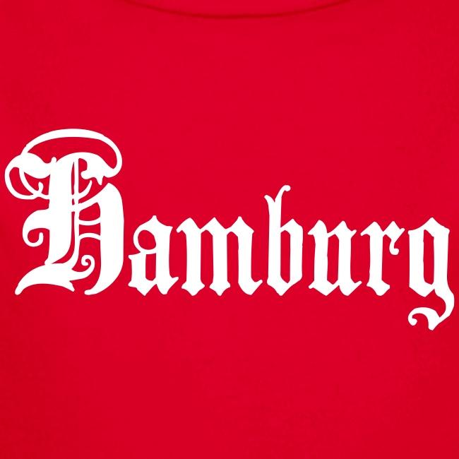 HAMBURG Schriftzug Ftrauen T-Shirt rot + alle Farben
