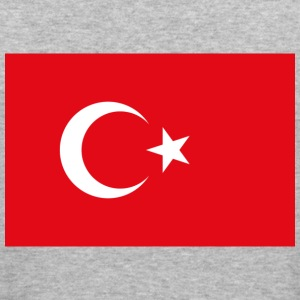 Flag Turkey (dd) Tröjor - Slim Fit T-shirt herr