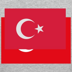 Flag Turkey (2c) Tröjor - Slim Fit T-shirt herr
