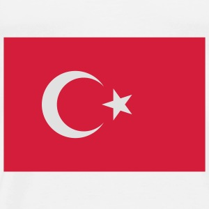 Flag Turkey (2c) Tassen - Mannen Premium T-shirt