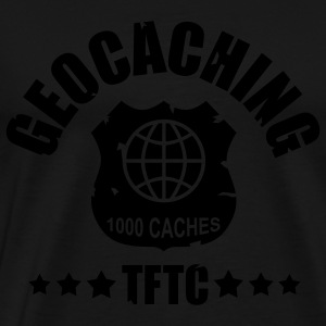 Geocaching Award 1000 - 1color - T-shirt Premium Homme
