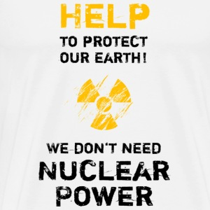 nuclear power black - Männer Premium T-Shirt