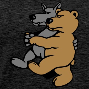 Wolf and Bear Hoodies & Sweatshirts - Men's Premium T-Shirt