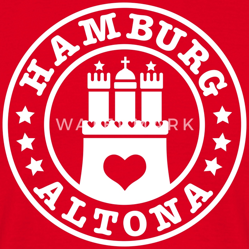 HAMBURG Altona - Hamburger Wappen Fan-Design HH Männer Shirt rot - Männer T-Shirt