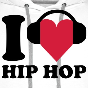 I love Music - Hip Hop T-Shirts - Men's Premium Hoodie