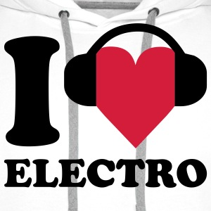 I love Music - Electro T-shirts - Mannen Premium hoodie