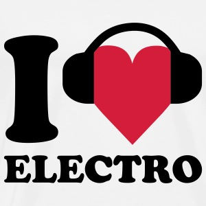 I love Music - Electro Babybody - Premium T-skjorte for menn