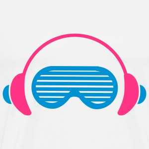 Shutter Shades and Headphones Tröjor - Premium-T-shirt herr