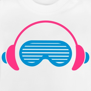 Shutter Shades and Headphones Barneskjorter - Baby-T-skjorte