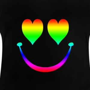 Rainbow Smiley 5 Børne T-shirts - Baby T-shirt