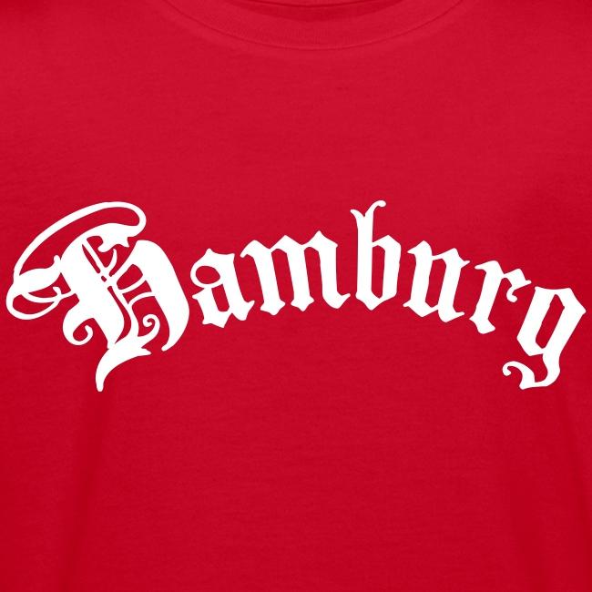 HAMBURG Schriftzug Männer T-Shirt rot + alle Farben