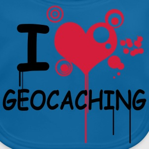I love geocaching / 2 colors T-shirts - Ekologisk babyhaklapp