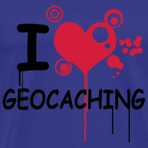 I love geocaching - 2colors - Herre premium T-shirt