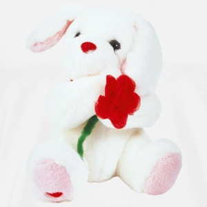 White Rabbit with a red Rose - Men's Premium T-Shirt
