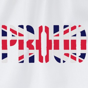 PROUD Great Britain flag, brittiska flaggan, Union - Gymnastikpåse