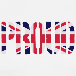 PROUD Britain Flag, British Flag, Union Jack, UK F - Men's Premium T-Shirt