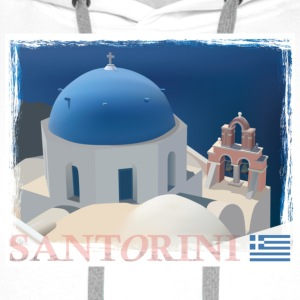 Santorini Church Mug - Men's Premium Hoodie