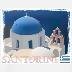 Santorini Church Mug - Men's Premium T-Shirt