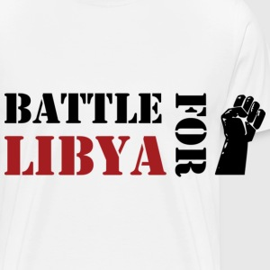 Battle for Libya Bottoni/Spille - Maglietta Premium da uomo