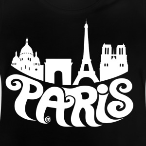 Zwart Paris Kinder shirts - Baby T-shirt