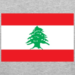 Flag Lebanon (dd) Tröjor - Slim Fit T-shirt herr