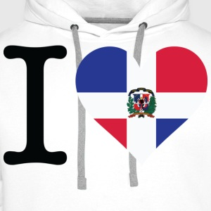 I Love Dominican Republic (dd) Barneskjorter - Premium hettegenser for menn