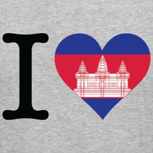 I Love Cambodia (dd) Sweatshirts - Herre Slim Fit T-Shirt