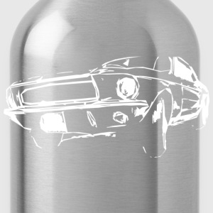 US Car White T-Shirts - Trinkflasche