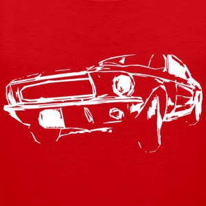 US Car White T-Shirts - Männer Premium Tank Top