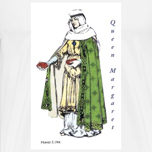 Queen Margaret feeds the poor - Men's Premium T-Shirt